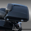 TPK-SPRSLM-GB;  Black Gloss SuprSlim Tour Pack on Harley (top view)