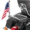 """5/8"""" Fixed, extended horizontal mount with 9"""" pole, standard cone topper and 6""""x9"""" USA flag on HD detachable King 2-Up rack (rack not included)"""