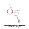 Extended mount (RDHB) installation diagram (exploded view)