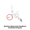 Extended mount (RDSB & RDGA) installation diagram (exploded view)