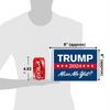 """6""""x9"""" Trump 2024 Miss Me Yet? flag (size comparison view)"""