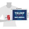 """10""""x15"""" Trump 2024 Save America flag (size comparison view)"""