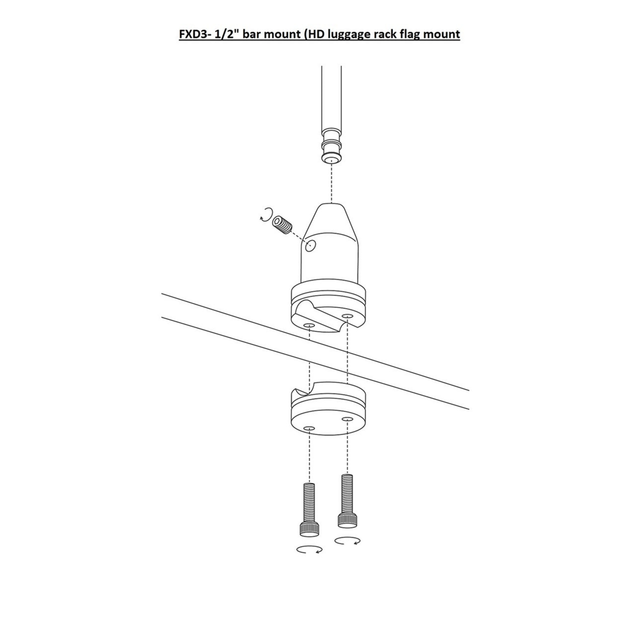 #RFM-FXD3 installation diagram (exploded view)