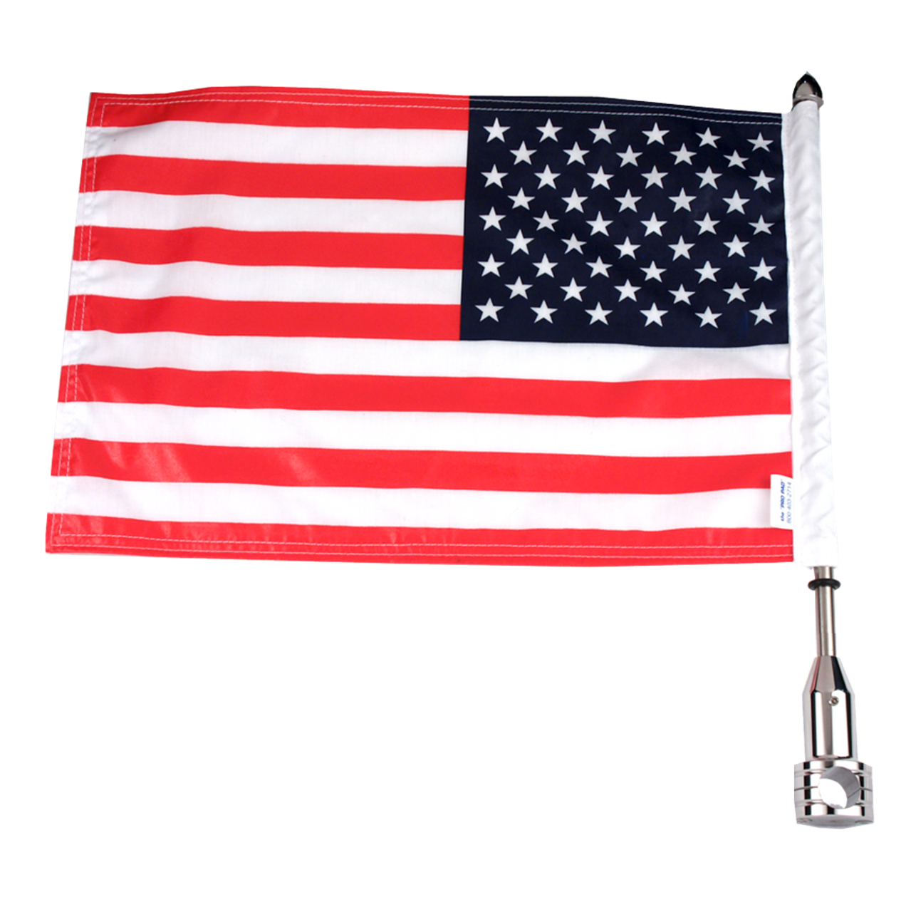 """#RFM-FXD115 with 10""""x15"""" USA parade flag, 13"""" pole and standard cone topper"""