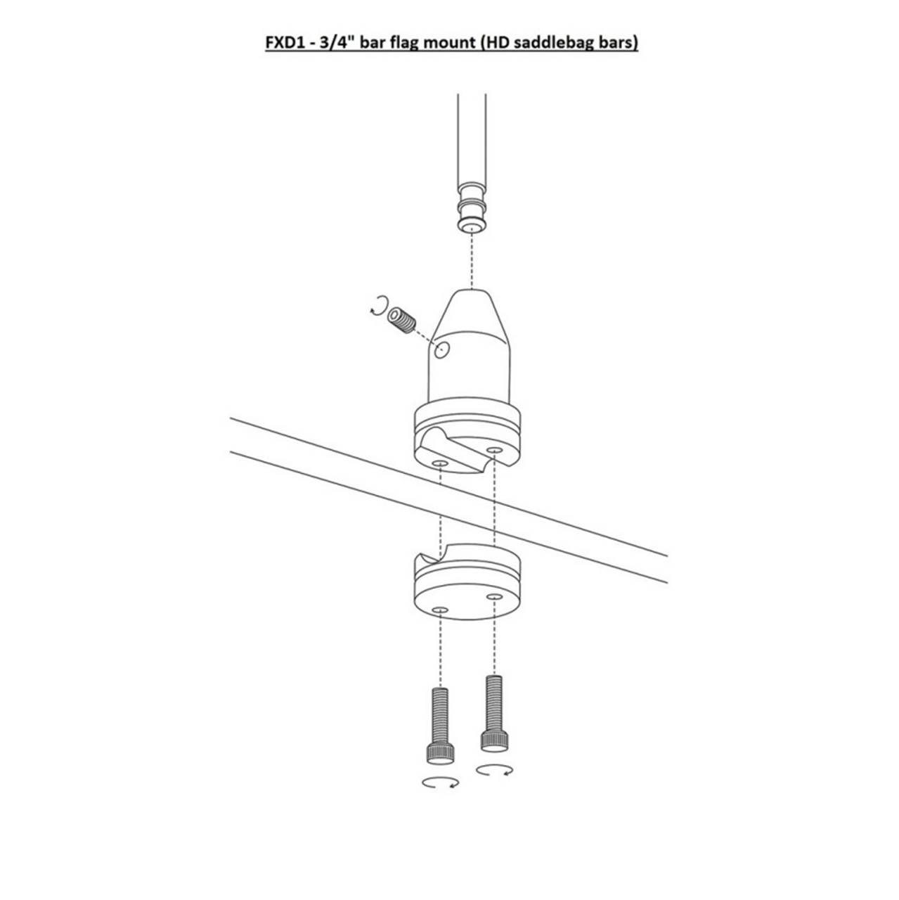 RFM-FXD1 installation diagram (exploded view)