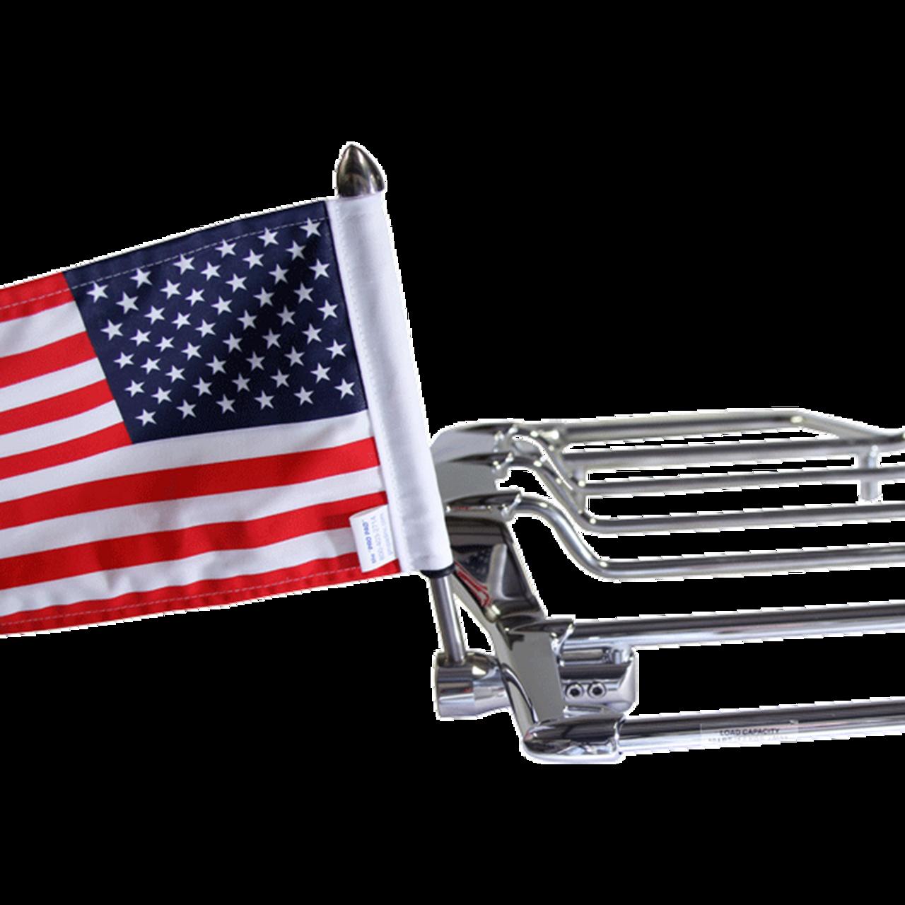 "INCH FLAG BIKER U.S.A FLAG  MOTORCYCLE FLAG 6/"" X 9/"""