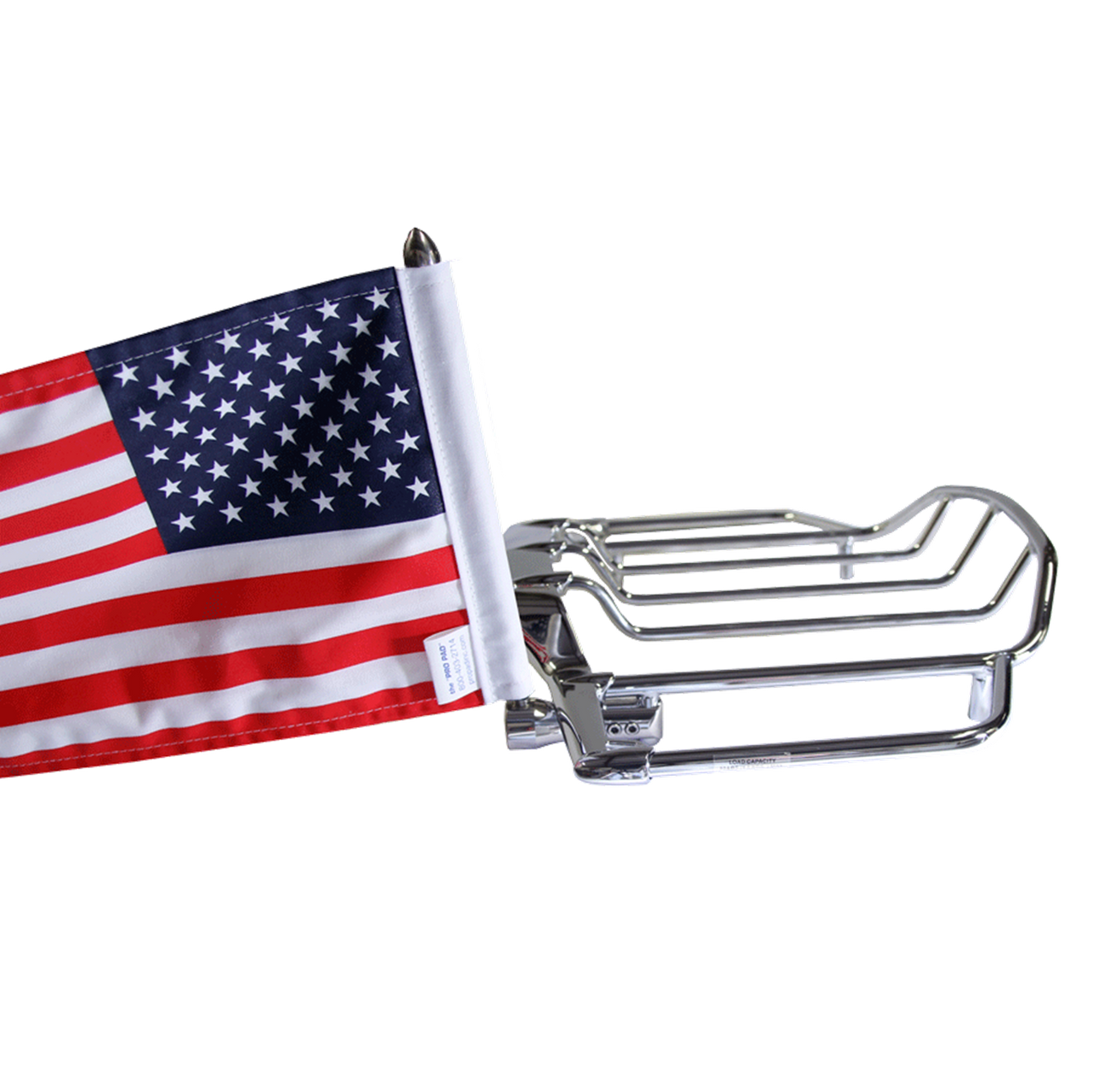 "#RFM-RDVM15 with 10""x15"" USA parade flag (shown on HD Air Wing rack)"