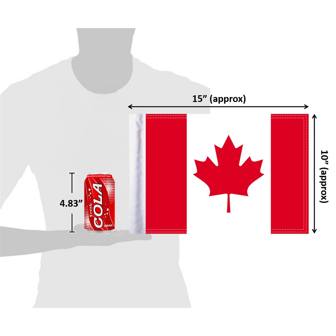"10""x15"" Canada flag (size comparison view)"
