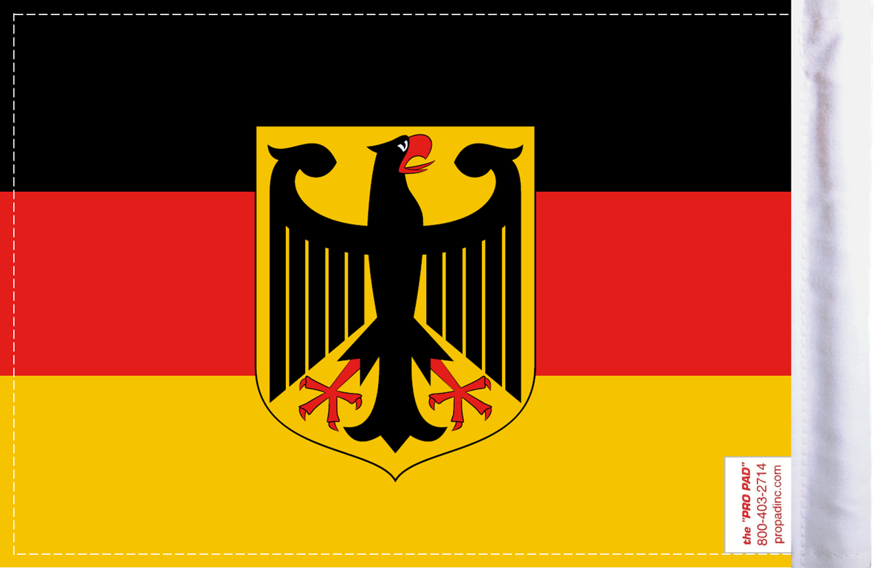 FLG-GERM-CA Germany Coat of Arms Flag 6x9 (BACK)