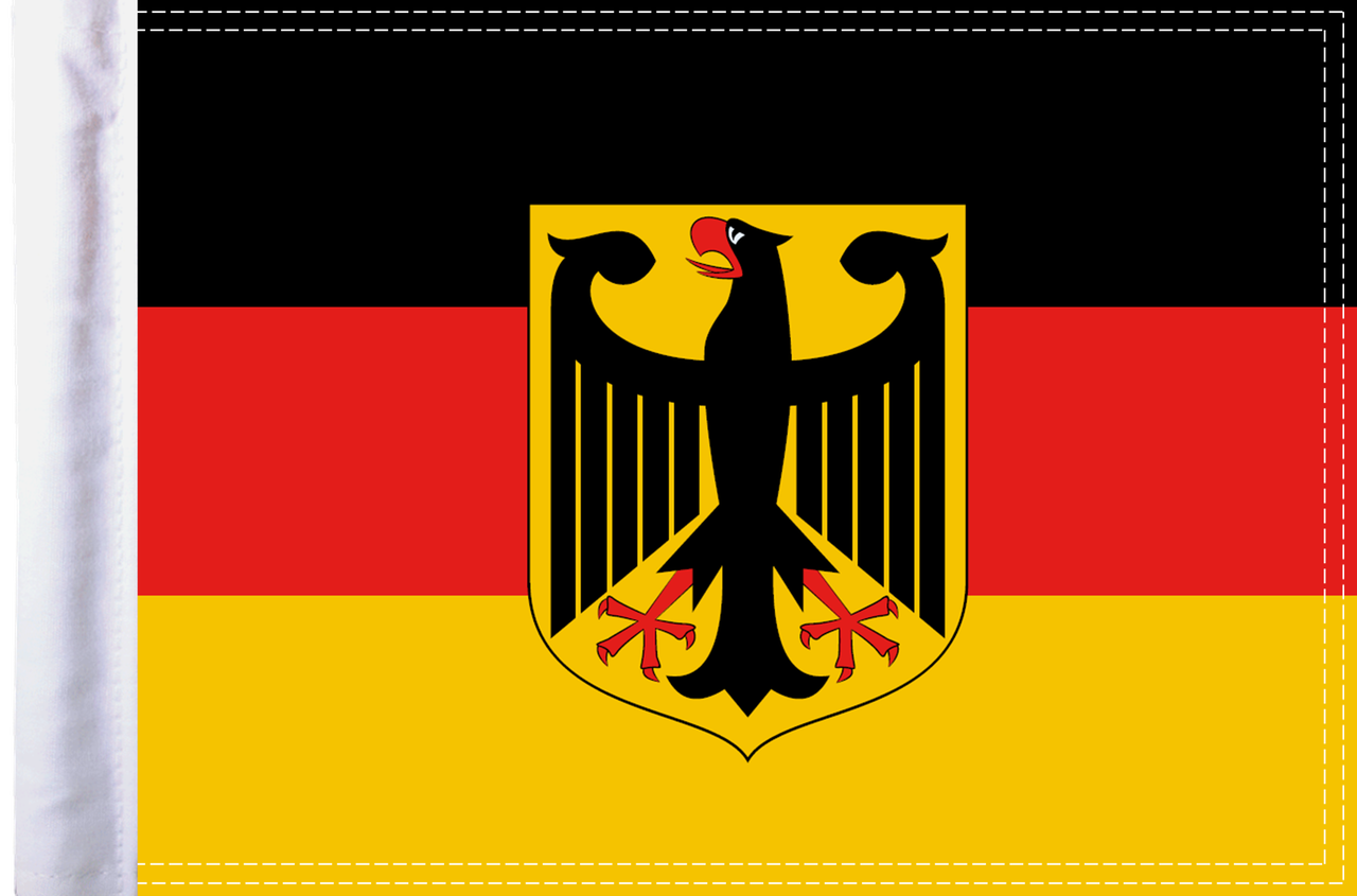 FLG-GERMCA-15 Germany Coat of Arms Flag 10x15