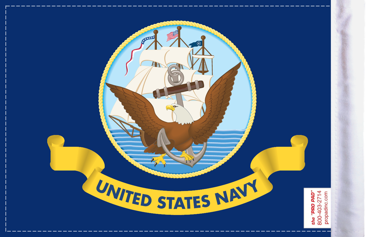 FLG-NAV  U.S. Navy 6x9 flag (BACK)