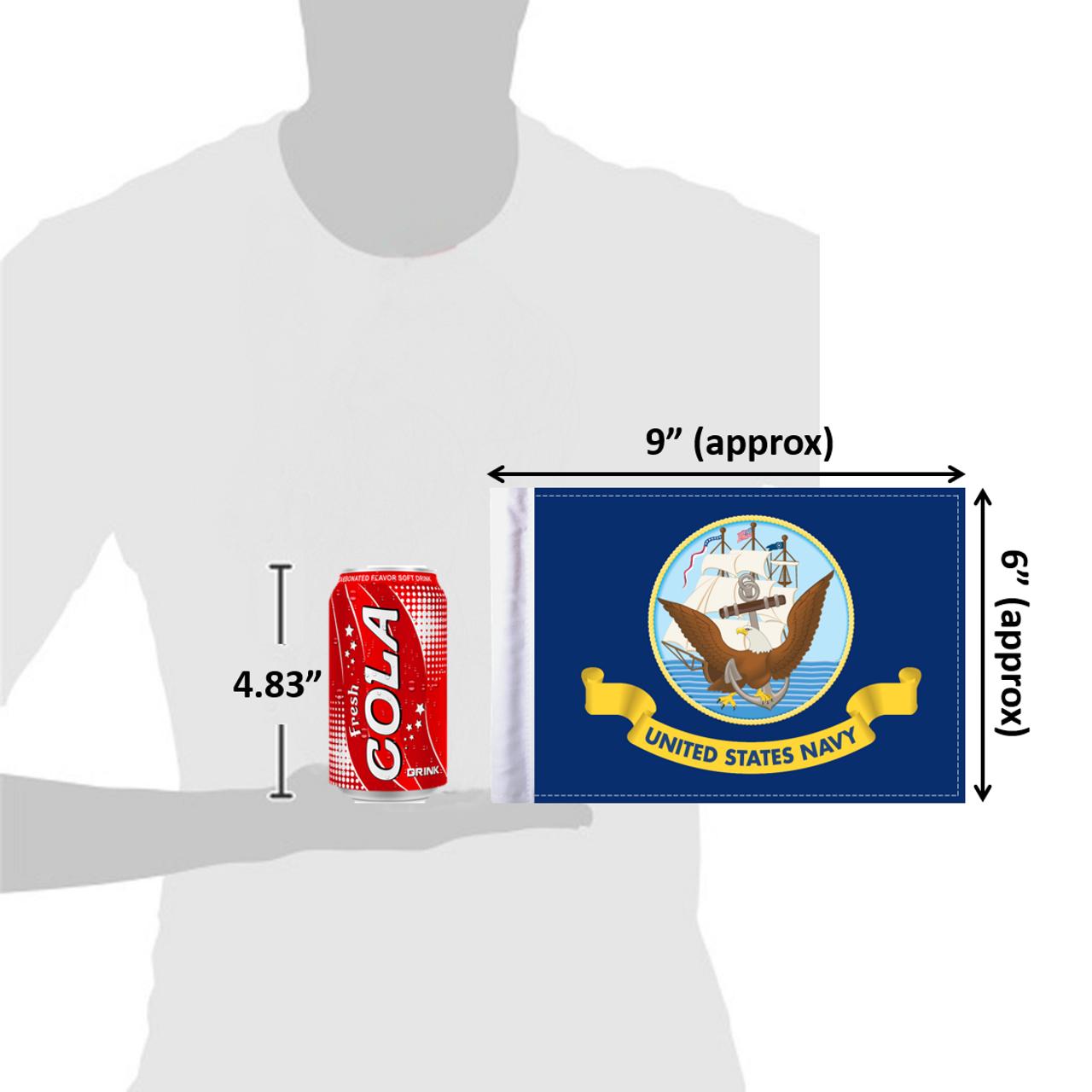 """6""""x9"""" U.S. Navy flag (size comparison view)"""
