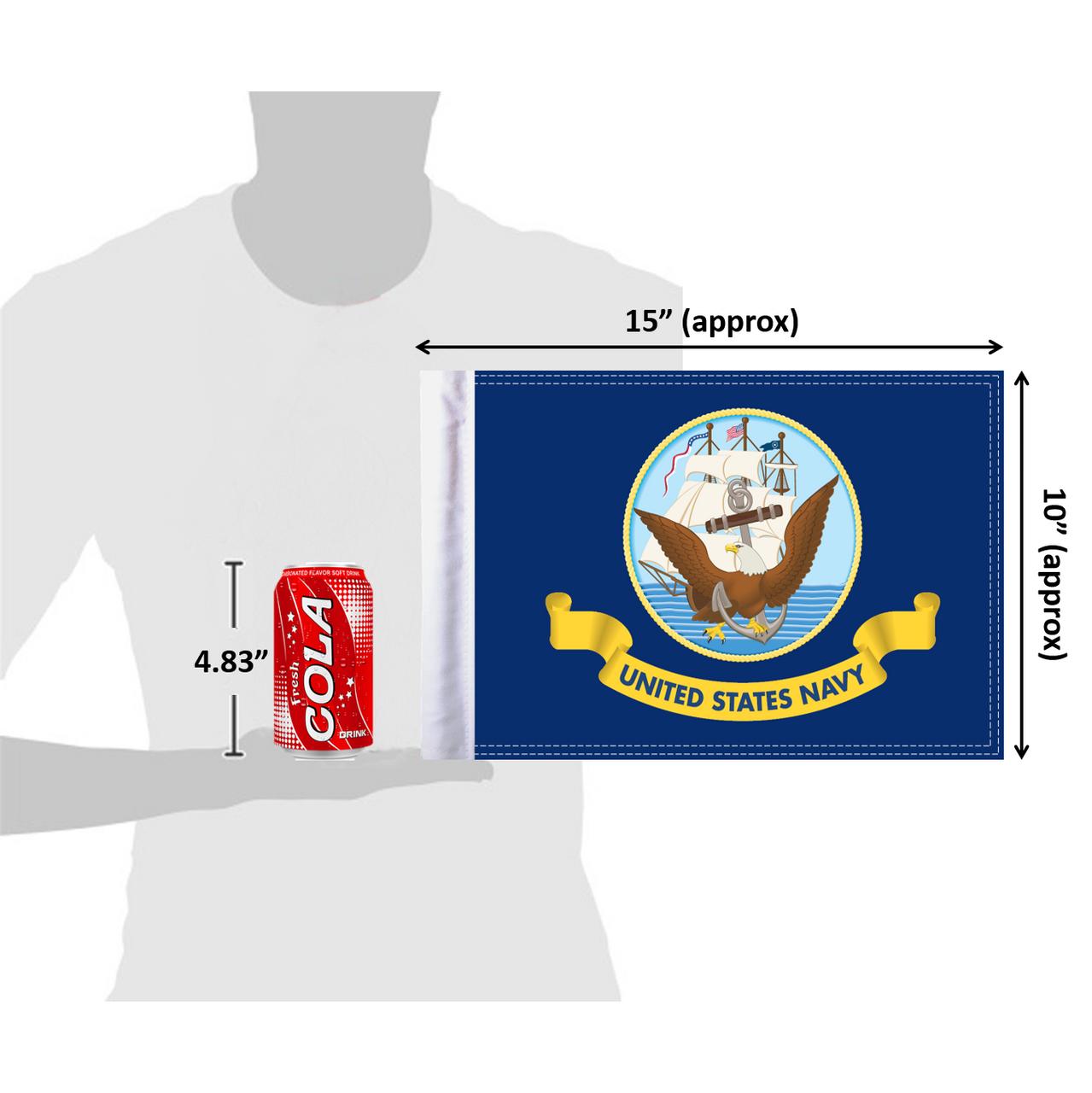 """10""""x15"""" U.S. Navy flag (size comparison view)"""