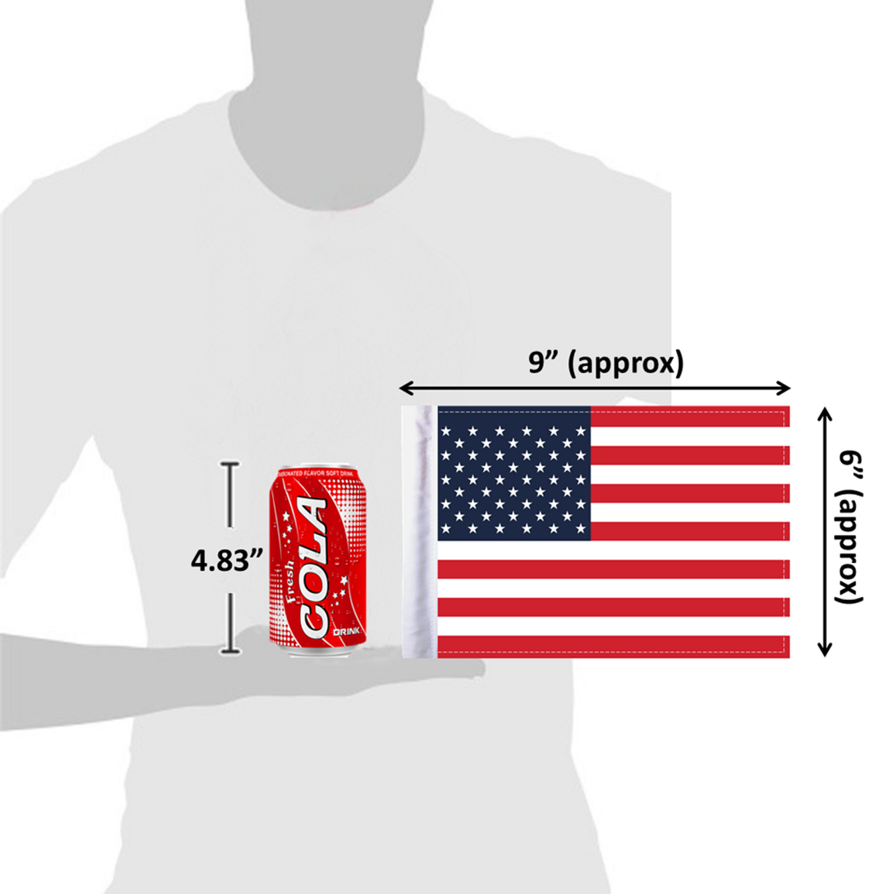 "6""x9"" United States of America (size comparison view)"