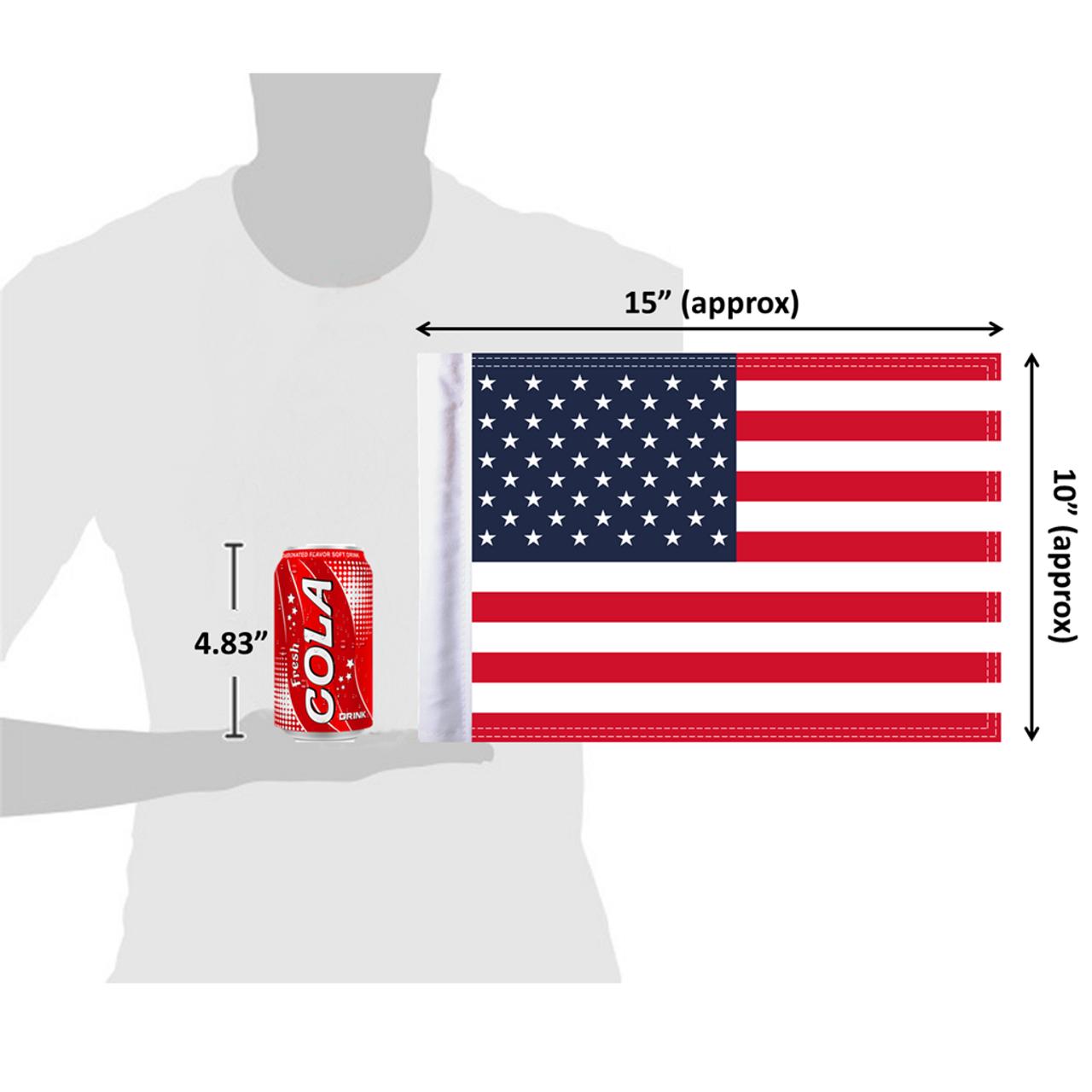 "10""x15"" United States of America (size comparison view)"