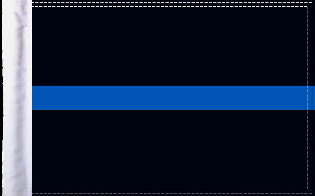 FLG-TBL15 Police Thin Blue Line flag 10x15