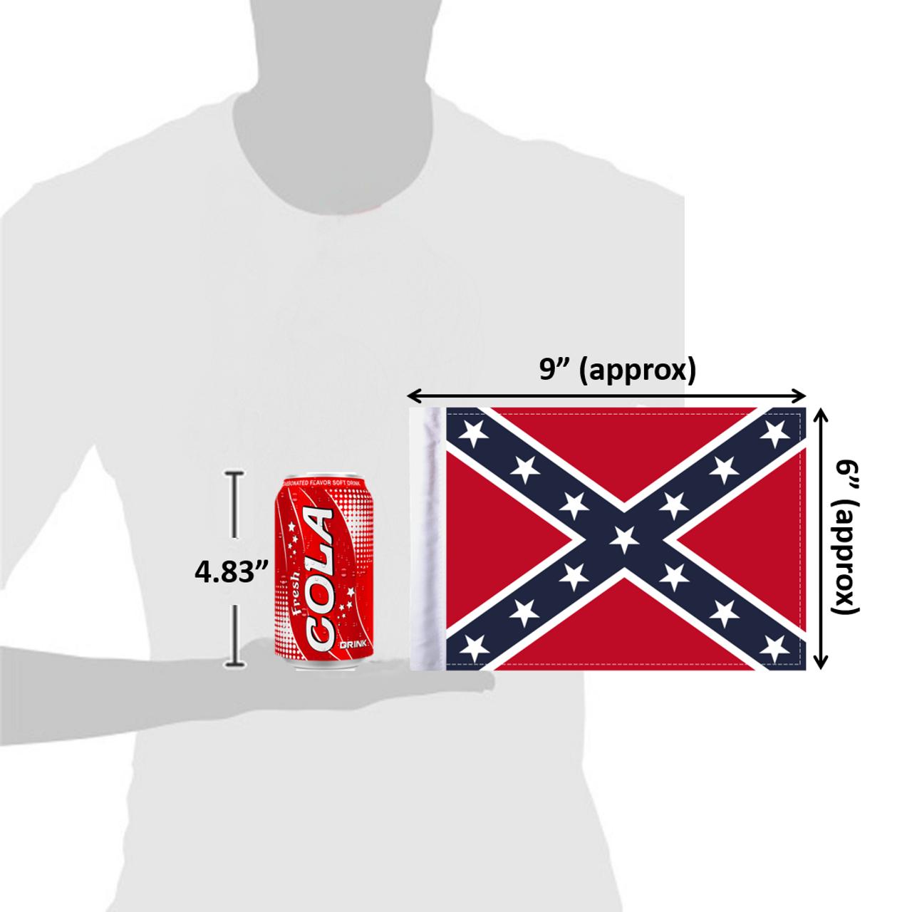 """6""""x9"""" Dixie Confederate flag (size comparison view)"""