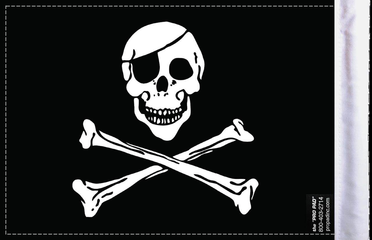 FLG-JR Jolly Roger flag 6x9 (BACK)
