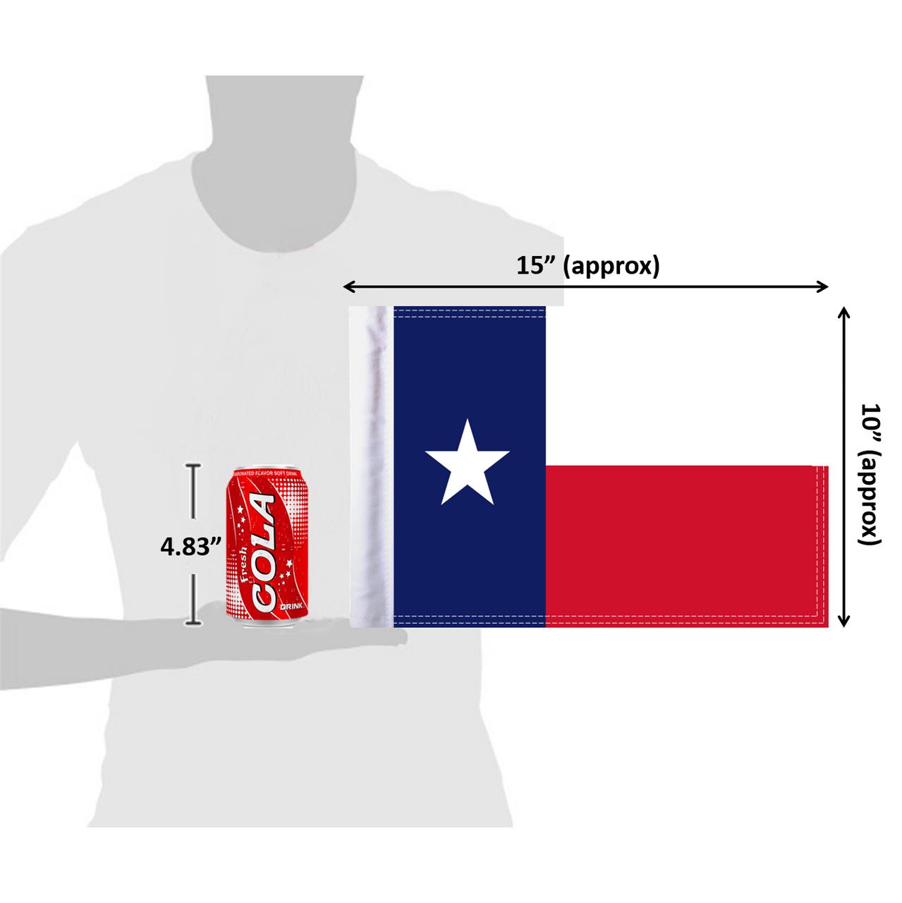 """10""""x15"""" Texas flag (size comparison view)"""