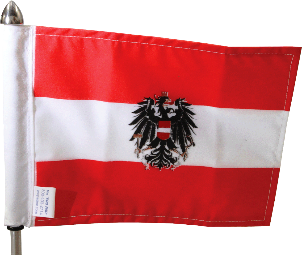 "Austria 6""x9"" Flag on 9"" Pole (pole not included)"