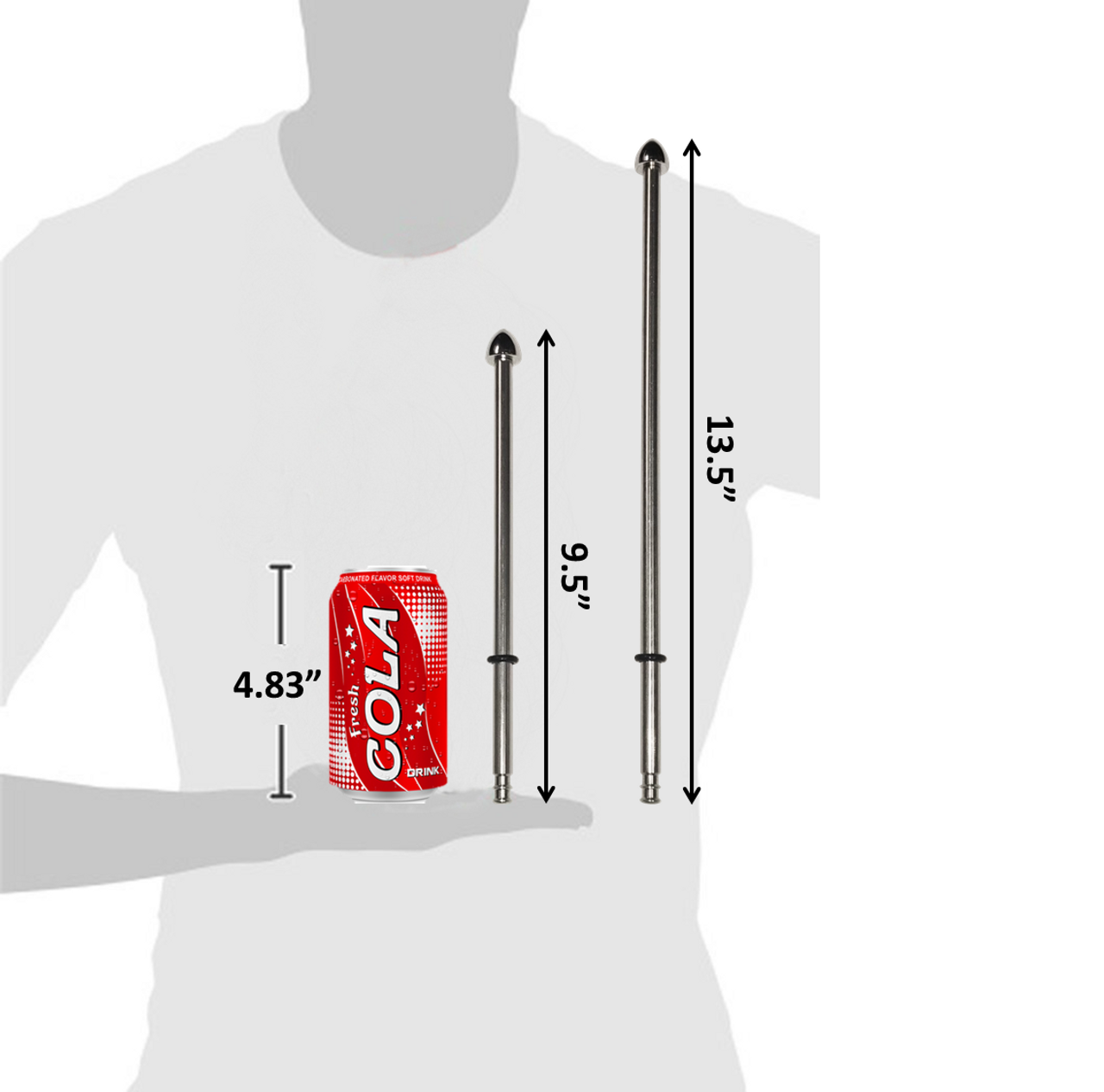"9"" vs 13"" pole size comparison"