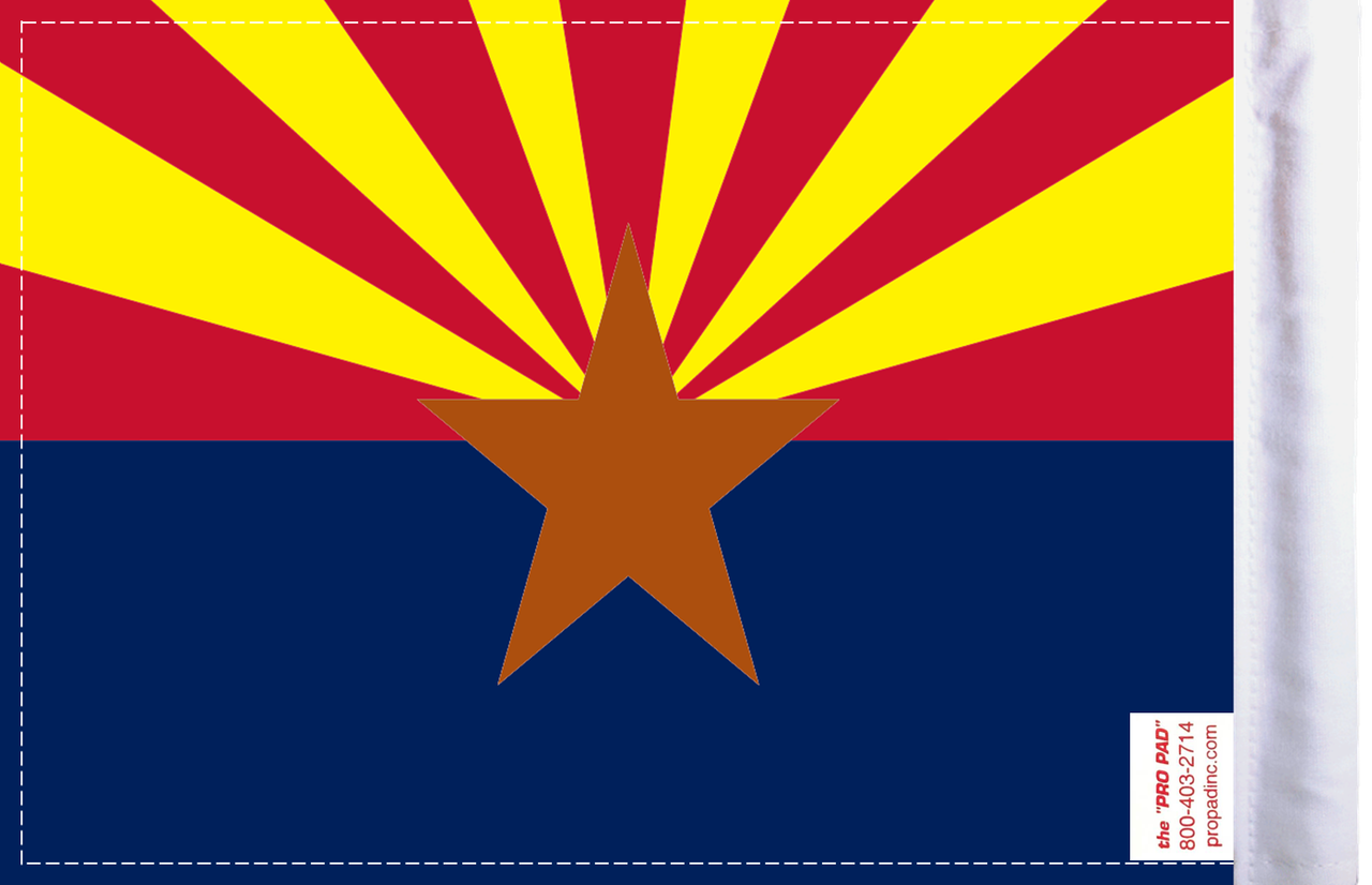 FLG-AZ Arizona Flag 6x9 (BACK)