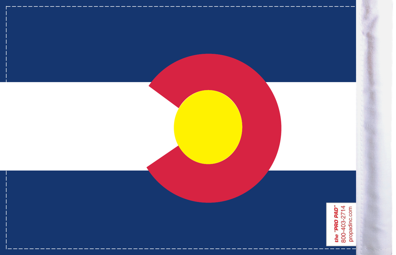 FL-CO Colorado 6x9 flag (BACK)