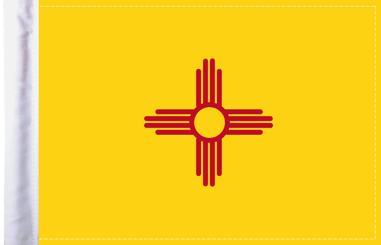 FLG-NM  New Mexico Flag 6x9