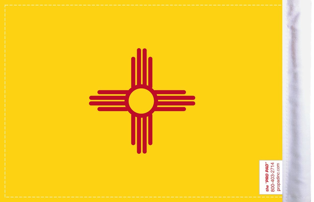 FLG-NM  New Mexico Flag 6x9 (BACK)