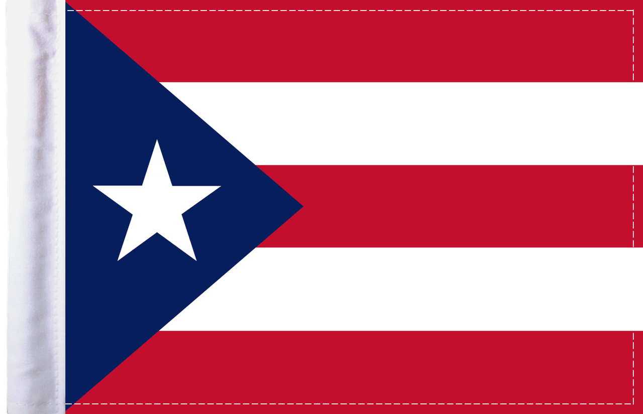 FLG-PR  Puerto Rico flag 6x9