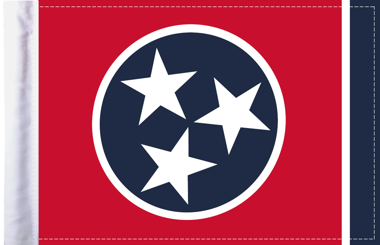 FLG-TN  Tennessee Flag 6x9