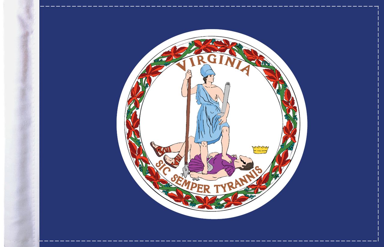 FLG-VA  Virginia Flag 6x9