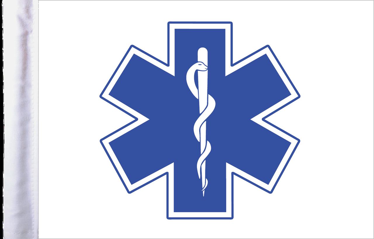 FLG-EMS15  EMS Star of Life 10x15 flag