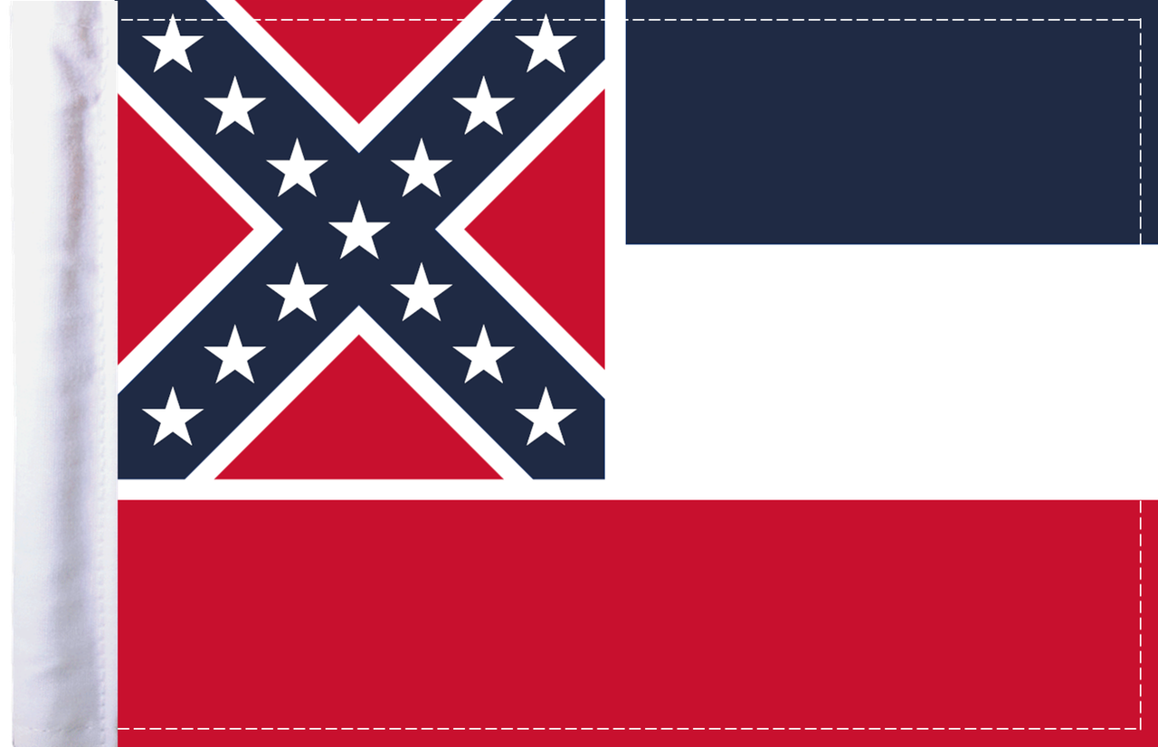 FLG-MS  Mississippi Flag 6x9