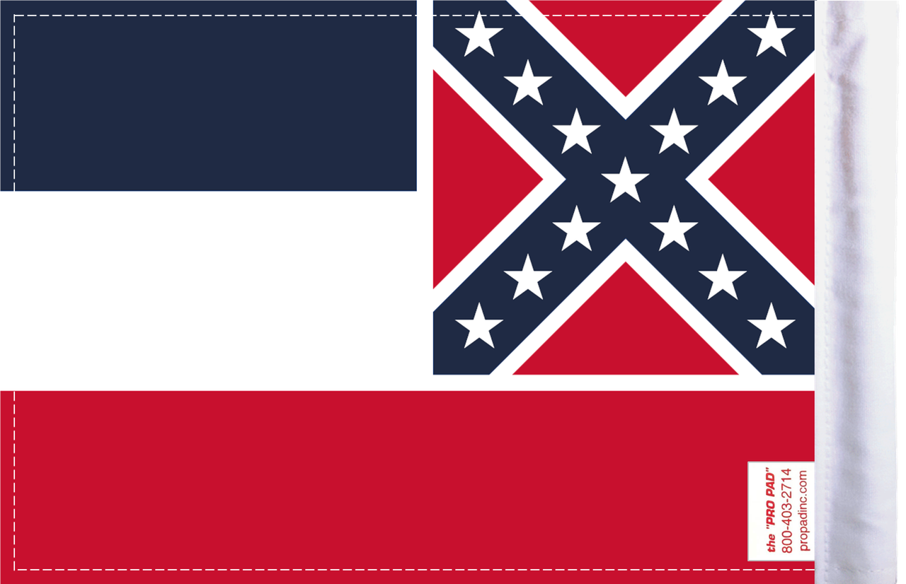 FLG-MS  Mississippi Flag 6x9 (BACK)