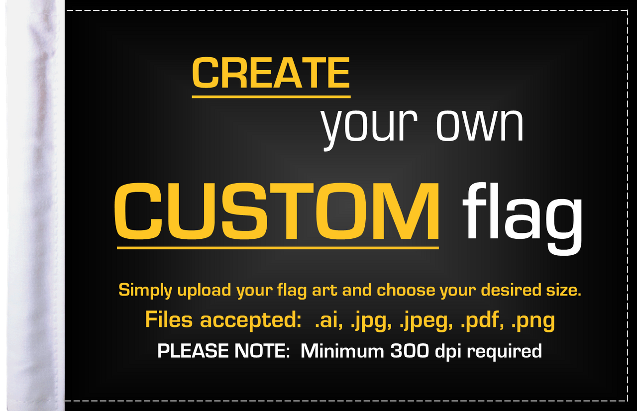 PPI Custom 6x9 Highway Motorcycle Flags