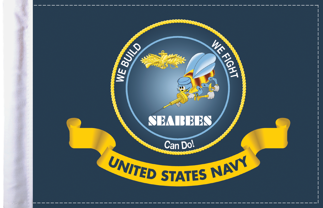 FLG-NAV-SB  Navy Seabees 6x9 flag