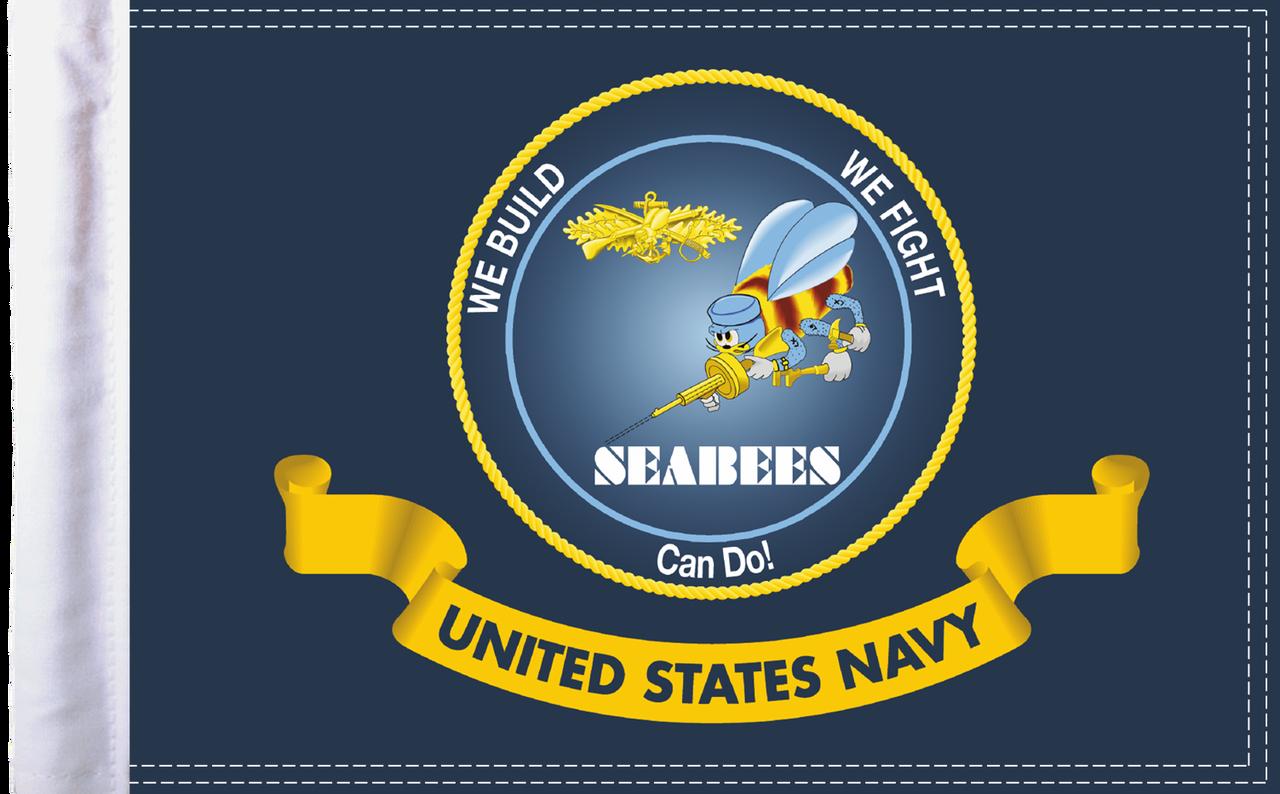 FLG-NAV-SB15 Navy Seabees flag 10x15