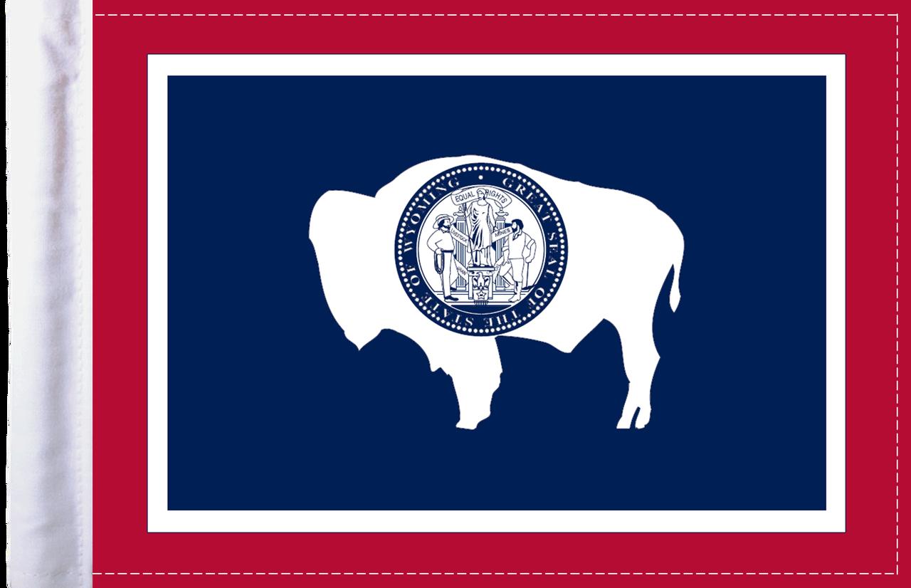 Wyoming Motorcycle Flag