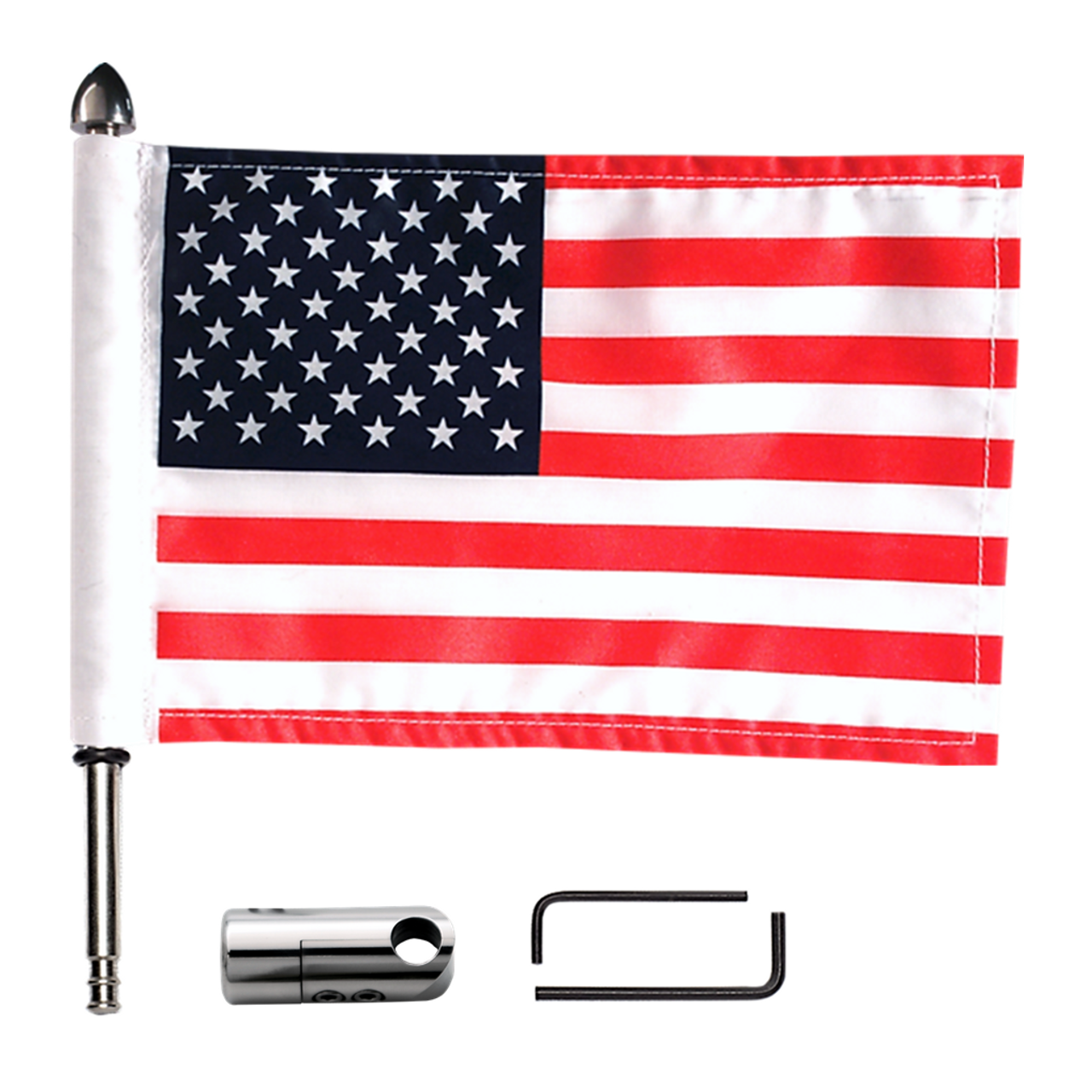 RFM-RDHB12 with 6x9 USA highway flag (component view)