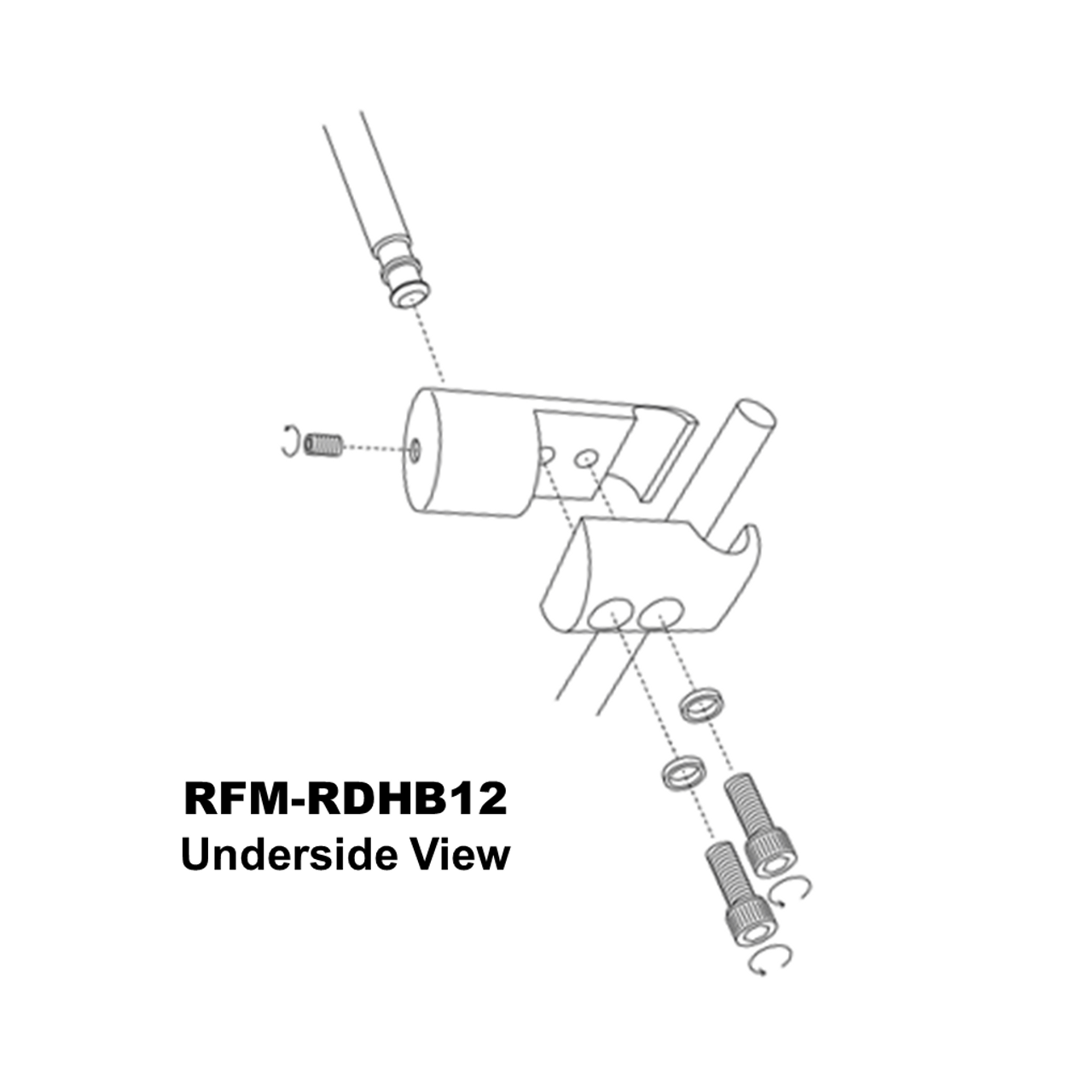 RFM-RDHB12 exploded view (from underside)
