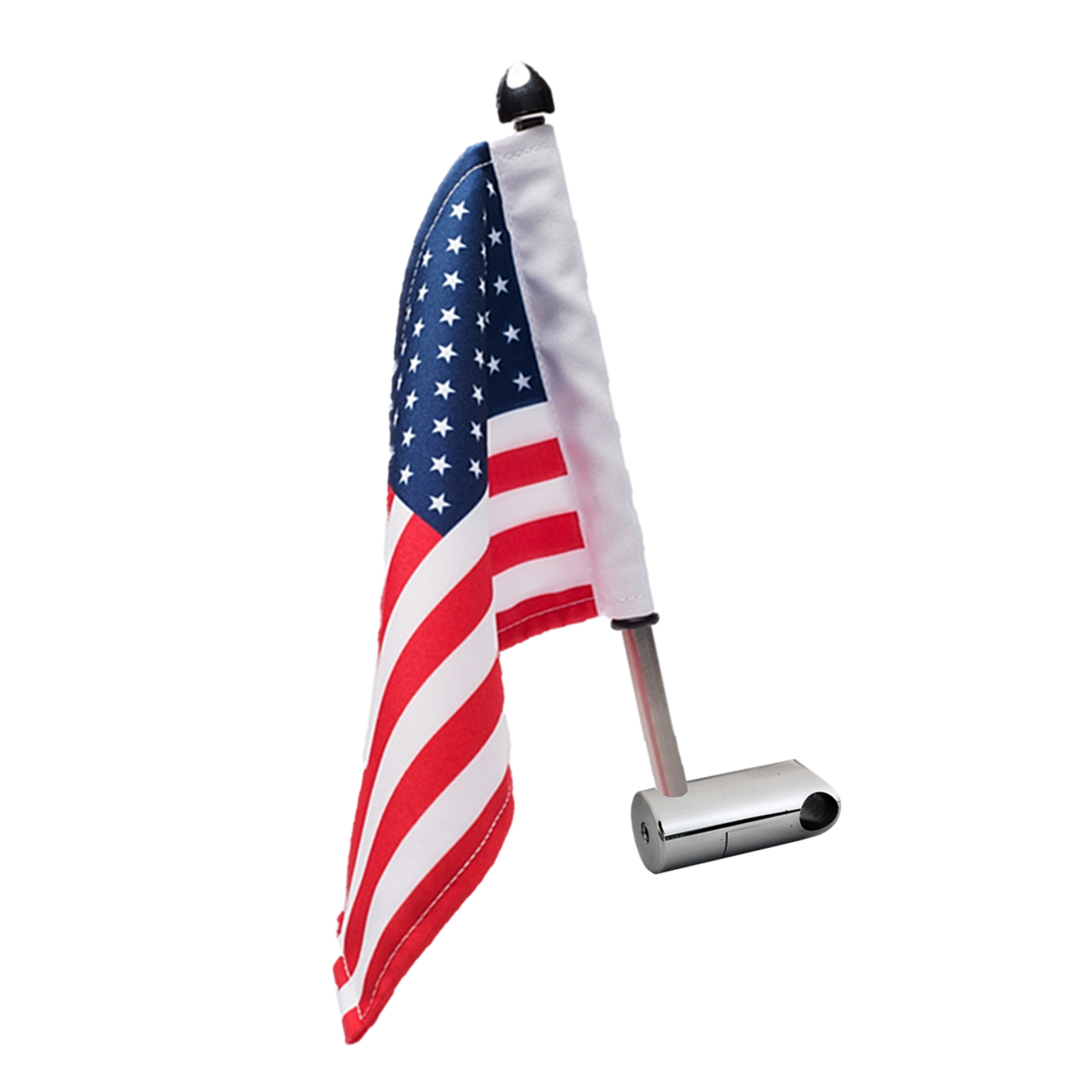 """#RFM-RDHB12 with 9"""" pole, standard cone topper and 6""""x9"""" highway flag"""