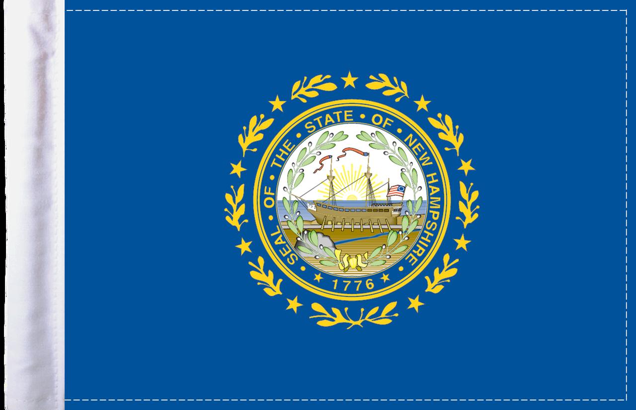 FLG-NH  New Hampshire Flag 6x9