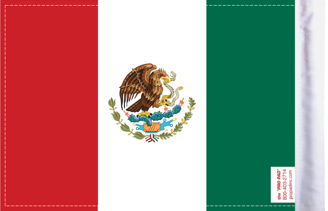FLG-MEX Mexico 6x9 flag (BACK)