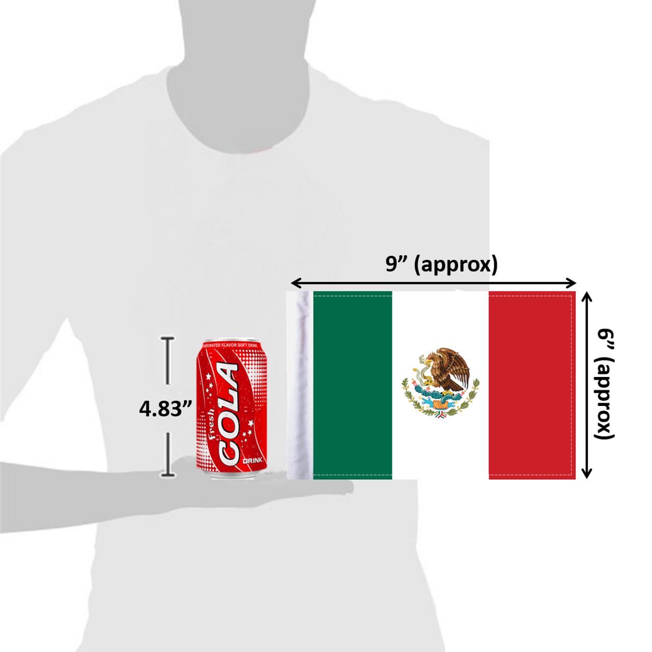 """6""""x9"""" Mexico flag (size comparison view)"""