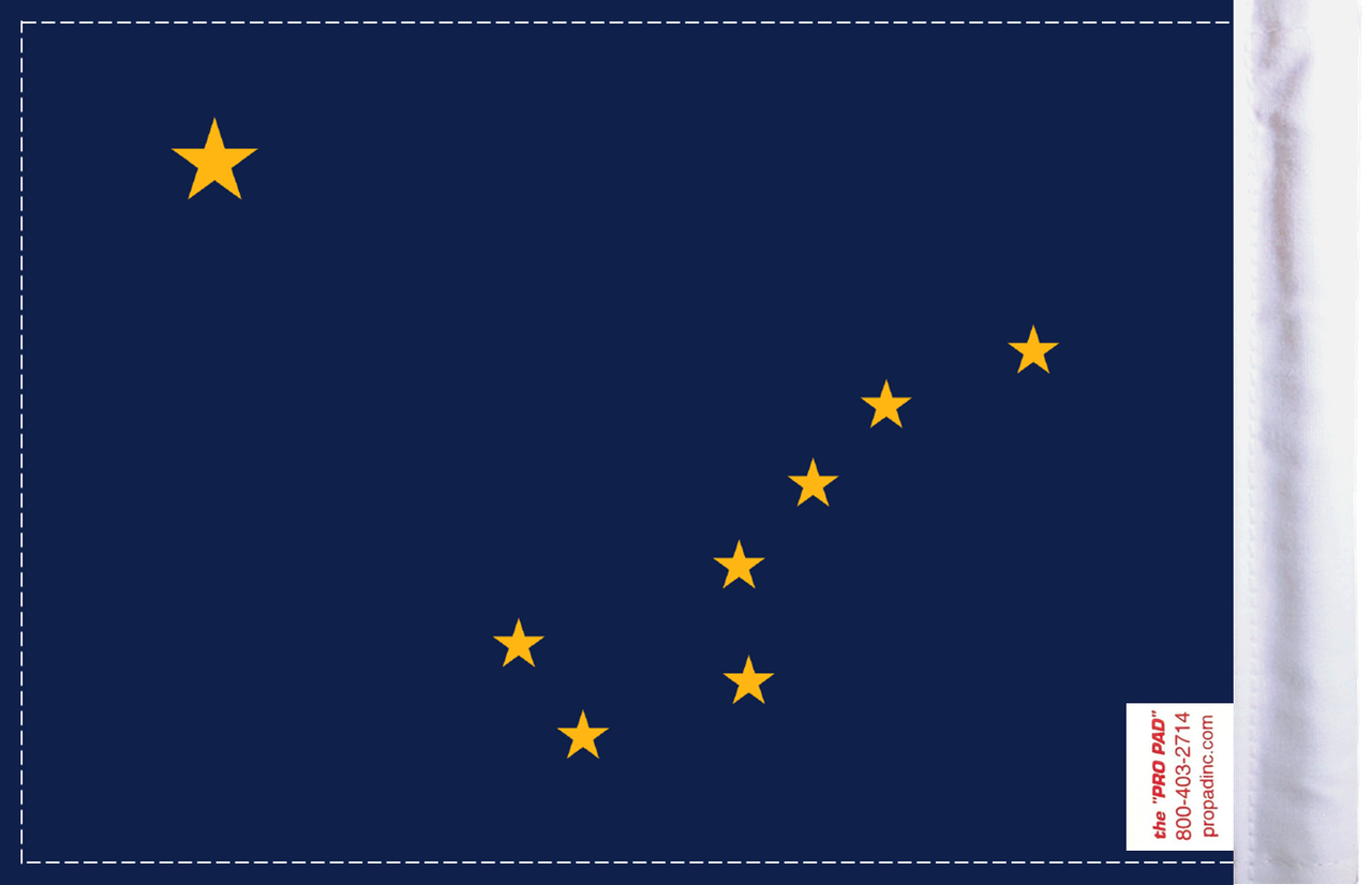 FLG-AK Alaska Flag 6x9 (BACK)