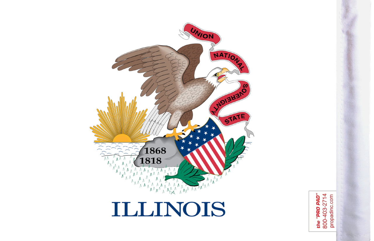 FLG-IL Illinois Flag 6x9 (BACK)
