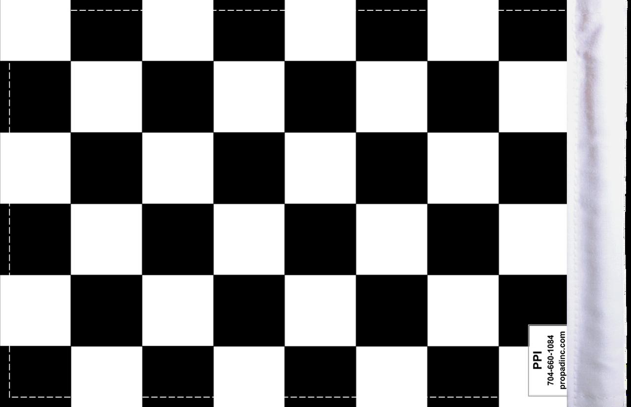 "6""x9"" Highway flag:  Checkered (BACK)"