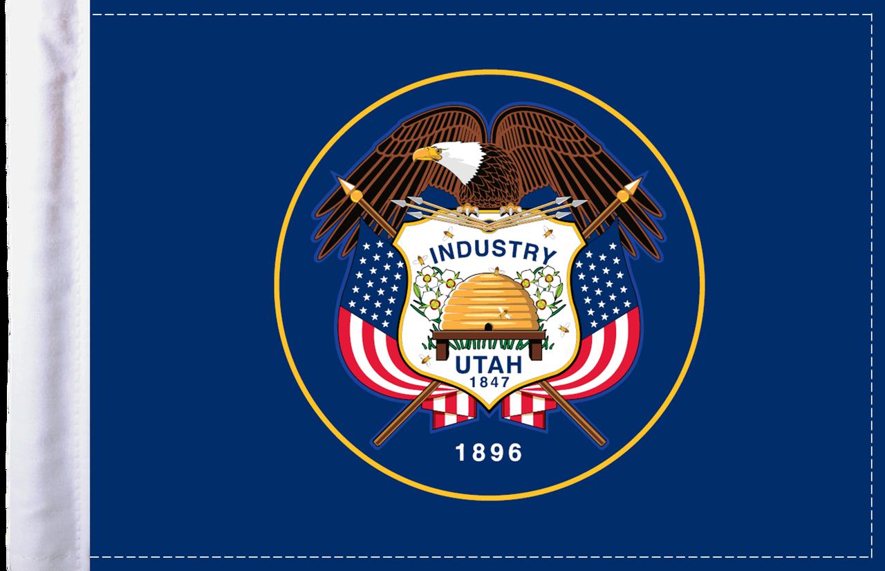 FLG-UT  Utah Flag 6x9