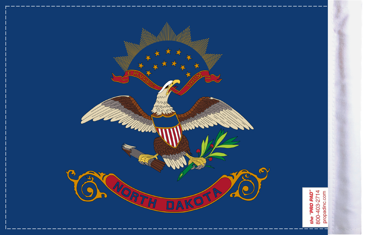 FLG-ND  North Dakota flag 6x9 (BACK)